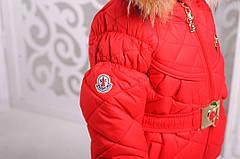 """Детский зимний комплект для девочки """"Монклер""""  92-116, фото 2"""