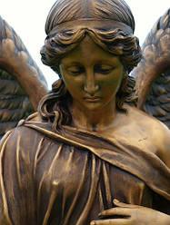 Скульптура ангела из бронзы № 8