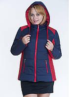 Куртка женская №15 (синий/красный)