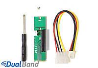 Райзер-адаптер Mirkit PCI-E 4x Female to NGFF M.2 M Key Male, Power Cable 4 Pin to Molex