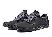 Мужские модные кожаные кроссовки Columbia, черные, фото 1