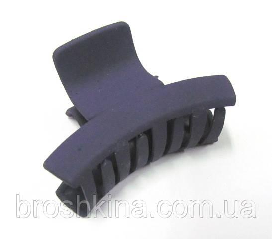 Заколка-краб для волос каучук L 6 см фиолетовая