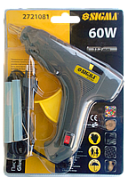 """Пістолет клейовий з вимикачем 11 мм 60 Вт  """"Sigma"""", фото 1"""