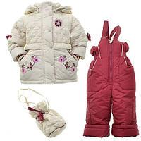 Детский костюм демисезонный двойка для девочки Кико 22051, 80-98