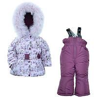 Детский зимний комплект для девочки Донило  74-92