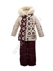 Детский зимний комплект для девочки Кико  3727 с шарфиком, 80, 86, 92, фото 2