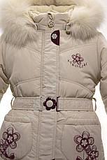 Детский зимний комплект для девочки Кико  3727 с шарфиком, 80, 86, 92, фото 3