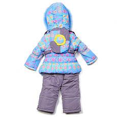 Детский зимний комплект для девочки с рюкзаком Кико  3355, на рост 80-104, фото 3