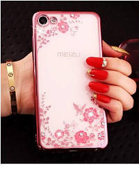 Чехол Meizu U10 Ультратонкий Бампер Luxury Rose Gold