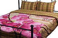 Комплект постельного белья Руно Евро Fuchsia сатин арт.845.137К_20-1315Fuchsia