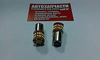 Лампа 12V (большой цоколь) 1 контакт 50 диодов белая с сопротивлением