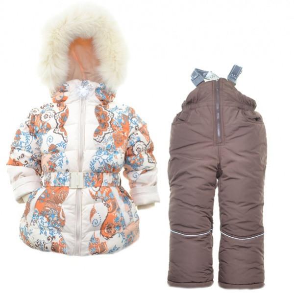 Детский зимний комплект для девочки Кико 3711,  98-128