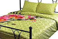Комплект постельного белья Руно Евро Green сатин арт.845.137К_20-1316 green