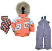 Детский зимний комбинезон для мальчика Кико 74-104 №3434