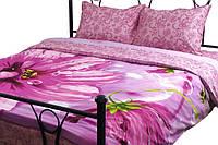 Комплект постельного белья Руно Евро Fuchsia сатин арт.845.137К_20-1319 Fuchsia