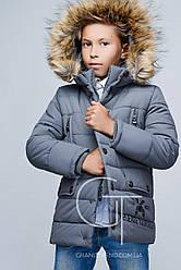 Детская зимняя куртка для мальчика DT-8259-4 размеры 36,38,42