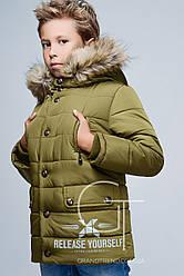 Детская зимняя куртка для мальчика DT-8259-1 размеры 32-42