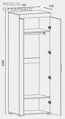 Шкаф распашной для одежды Британия ШП-3, фото 2