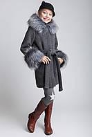Детское пальто демисезонное для девочки Чернобурка 128-158