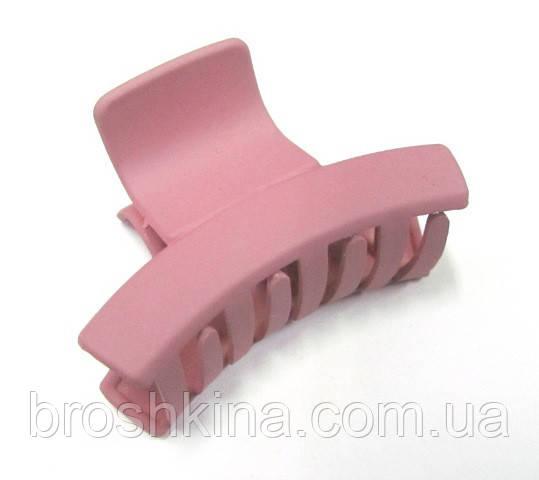 7167a028d095 Заколка-краб для волос каучук L 6 см розовая