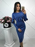 Облегающее платье с воланами (3 цвета), фото 1
