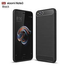 Чехол Carbon для Xiaomi Mi Note 3 бампер оригинальный Black