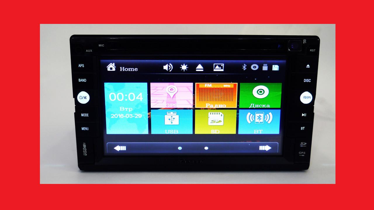 2din Магнитола Pioneer TS-6288 GPS+USB+SD+Bluetooth+TV