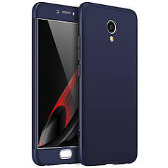 Чехол GKK 360 для Meizu M5 Note бампер оригинальный Blue