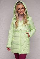 Демисезонная женская куртка, салатовая