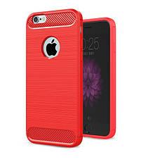 Чехол Бампер Carbon для Iphone 6 Plus / 6s Plus оригинальный Red