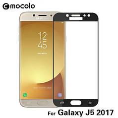 Защитное стекло Mocolo для Samsung J5 2017 / J530 полноэкранное черное