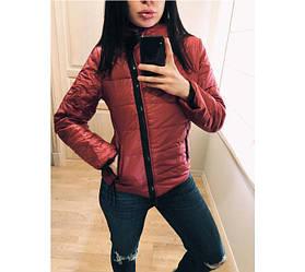 Женская куртка с косой змейкой