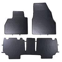 Килими гумові для автомобіля RENAULT KANGOO III 2 pc. (2008 - ….)колір чорний