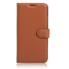 Чехол для Lenovo Vibe P2 книжка кожа PU коричневый
