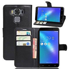 Чехол для Asus Zenfone 3 Max / ZC553KL / X00DDA книжка кожа PU черный