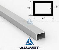 Труба алюминиевая 25х20х1.5мм прямоугольная АД31Т5 без покрытия
