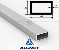 Труба алюминиевая 40х20х2мм прямоугольная АД31Т5 без покрытия