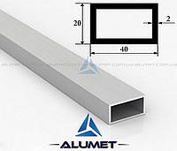Труба алюминиевая 40х20х2 мм прямоугольная без покрытия ПАС-1541