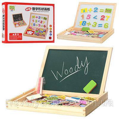 Деревянная игрушка Доска магнитная, MD 0694, 003990