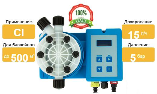 Насос–дозатор Emec на хлор TMSRH 0515 характеристики