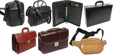 Чоловічі сумки, портфелі, ділові папки, барсетки, дипломати, сумки на пояс