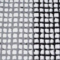 Коттон хлопоковая ткань хлопок с эластаном белый в серо черные окошки ш.125 ткань