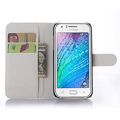 Чехол для Samsung Galaxy J5 2015 J500 книжка кожа PU белый