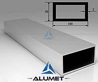 Труба алюминиевая 100х50х2мм прямоугольная АД31Т5 без покрытия