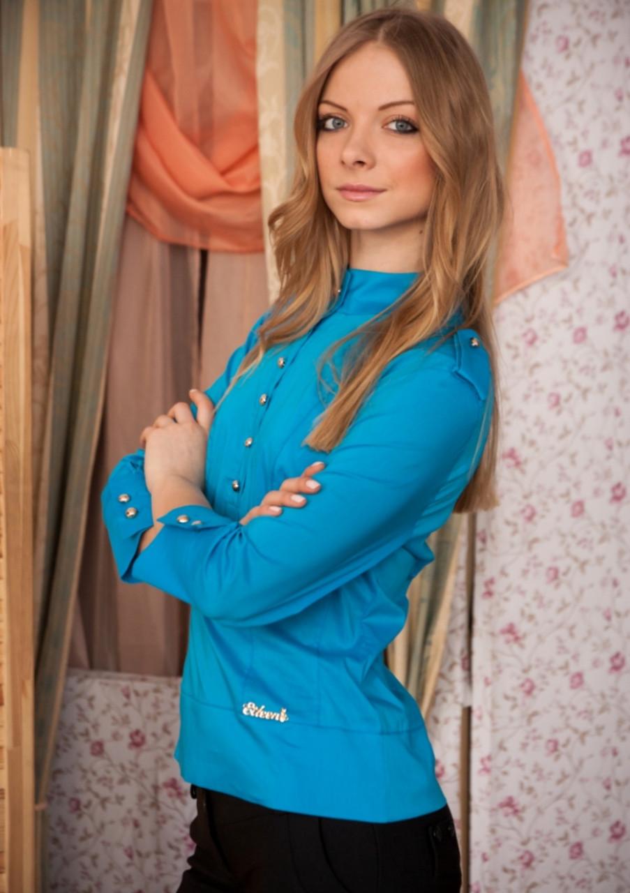 Рубашка женская №2 (синий)