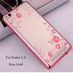 Чехол Luxury для Xiaomi Redmi 4a Ультратонкий Бампер Rose Gold