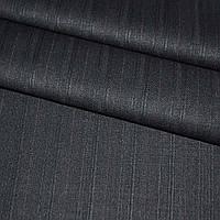 Ткань костюмная черная в полоску, ш.155