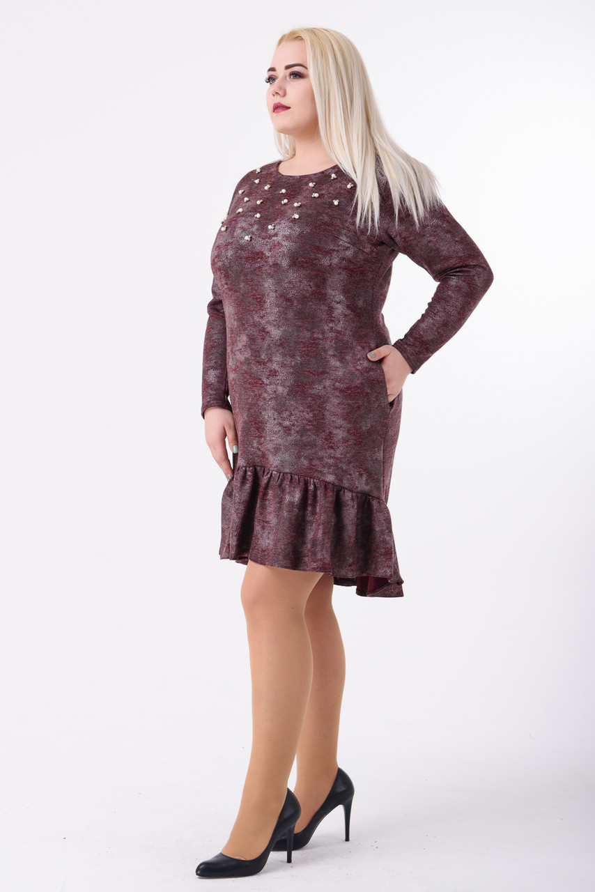 Платье женское Лаура (марсала)