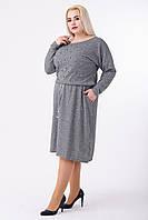 Платье женское Евгения (светло-серый), фото 1