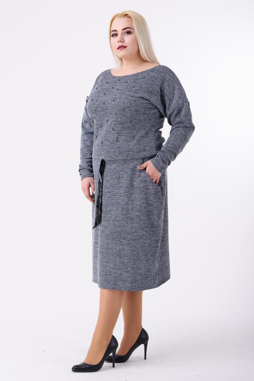 Платье женское Евгения (серый)